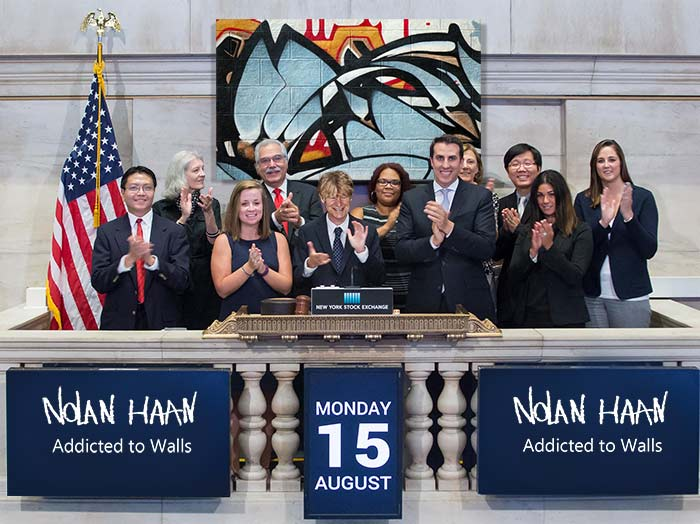 Nolan Haan at New York Stock Exchange