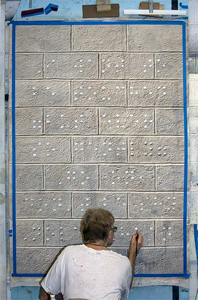 Nolan Haan painting Braille