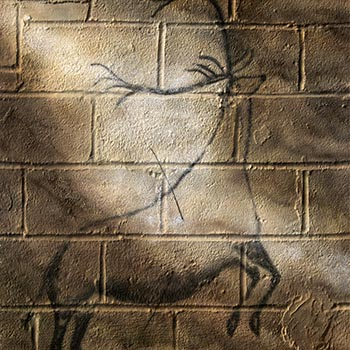 Urban Cave Painting: Wounded Stag by Nolan Haan