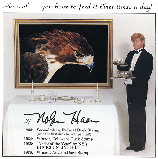 advertisement with Nolan Haan