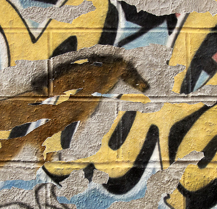 detail of graffiti isn 		what it's used to be
