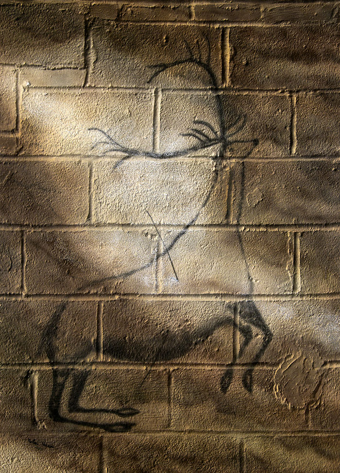 Urban Cave Painting: Wounded Stag