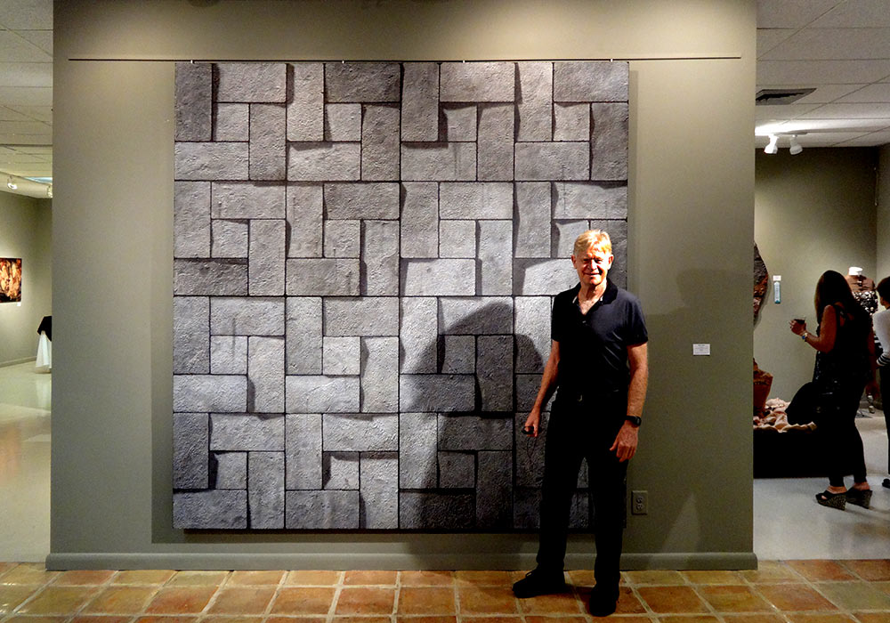 concrete block wall painting by Nolan Haan